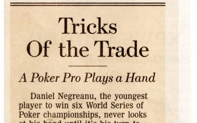 Tricks Of the Trade – A Poker Pro Plays a Hand